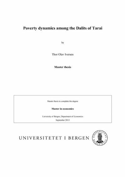 master thesis poverty