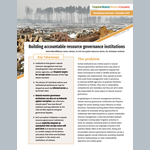 Building accountable resource governance institutions