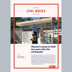 Women's status in Haiti  ten years after the earthquake