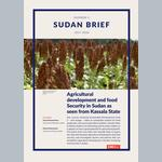Agricultural development and food Security in Sudan as seen from Kassala State