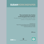 The overlooked role of elites  in African grassroots conflicts: A case study of the Dinka-Mundari-Bari conflict in Southern Sudan
