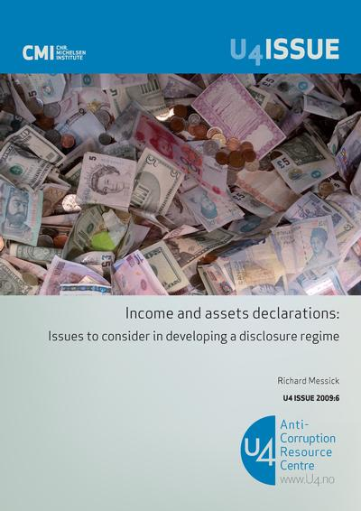 an overview of income and asset declaration as a solution to prevent or combat corruption Good suggestions pl join our efforts to fight corruption this article gives a very good overview of how to combat corruption they extract income.