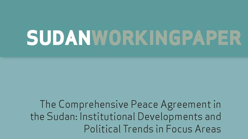 The Comprehensive Peace Agreement In The Sudan Institutional